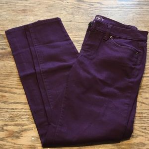 Ann Taylor Loft jeans NWOT plum/purple color